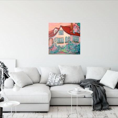 Garneau English Cottage House Painting 12