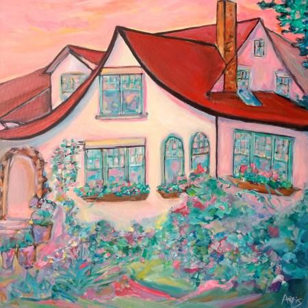 Garneau English Cottage House Painting Aeris Osborne