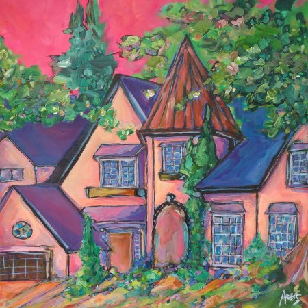 Highlands French Provisional House Painting By Aeris Osborne