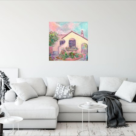 Highlands Spanish Colonial House Painting By Aeris Osborne