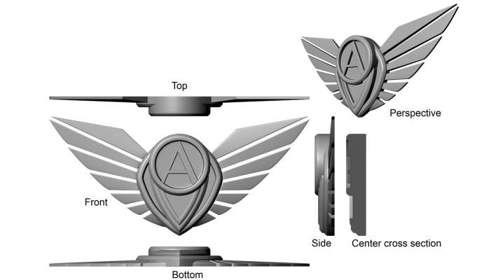 Aero Wear Logo - Emblem Design