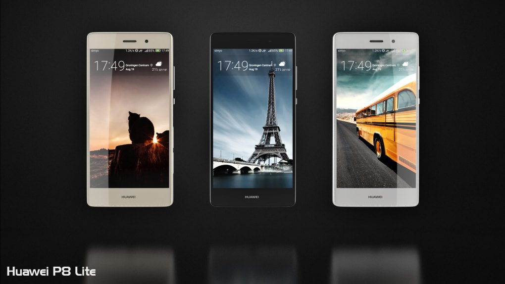 Huawei P8 Lite Triple Color Front View v2