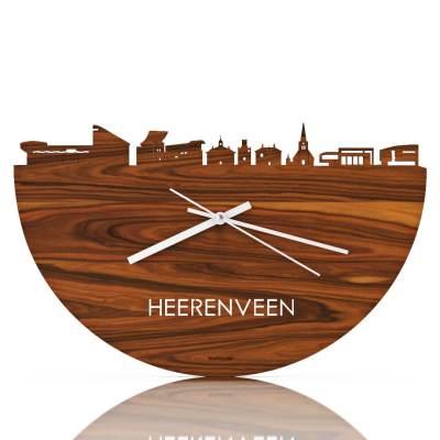 Heerenveen Skyline Rosewood Clock Front