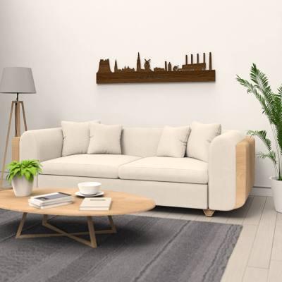 Groningen Old Skyline Walnut Wall Couch