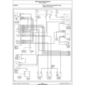 Ford Taurus LX System Wiring Diagrams 1998 $595