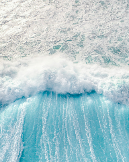 Long Reef Wave Crashing Aqua