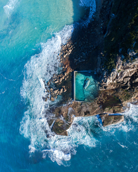 Aerial Drone Photography of North Curl Curl Pool