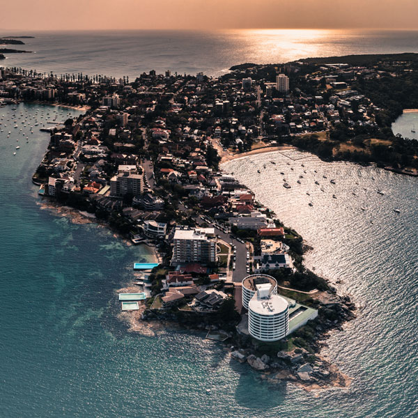 Aerial of Manly