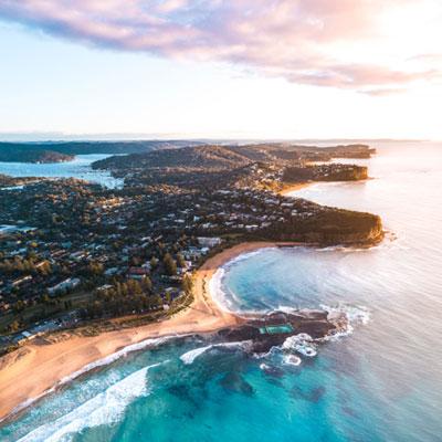 Mona Vale Beach Aerial