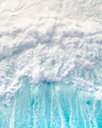 Aqua Blue Crashing Wave
