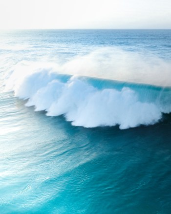 Aerial of Strong Blue Wave