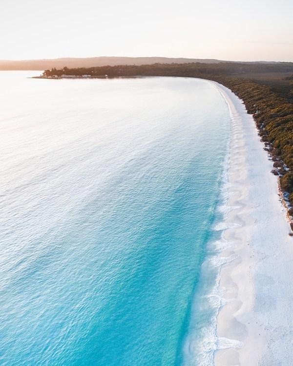 Hyams Beach Aerial Wall Art Print