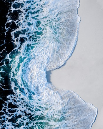 Ocean Formations on Hyams Beach Aerial