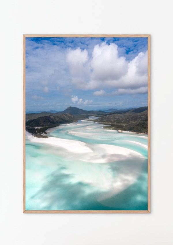 Whitehaven Beach Aerial Photography Print