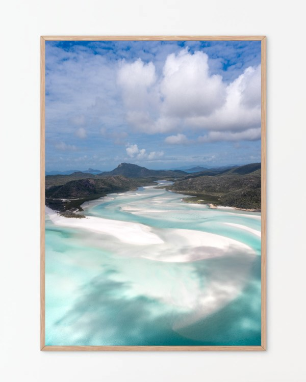 Whitehaven Beach Aerial Photography Print