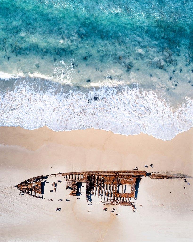 Beauty Spots Tour Maheno Shipwreck Aerial