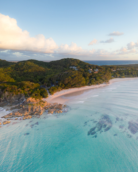 Angled View Of The Beautiful Pass At Byron Bay