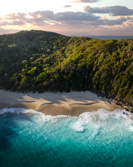 Aerial Of The Corner Of Shelly Beach Mid North Coast New South Wales