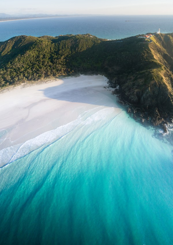 Aerial Of Tallows Beach, Byron Bay