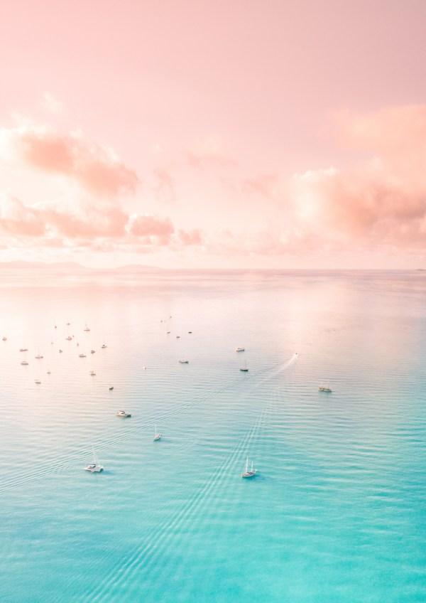 Pastel Ocean Aerial Photography Print