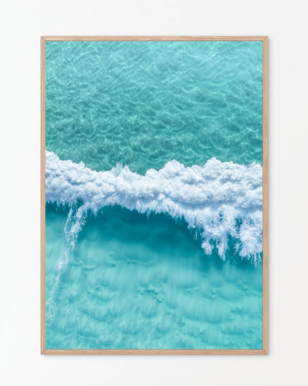Ocean Aerial Wall Art Print