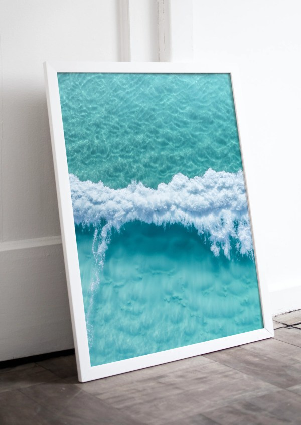 Turquoise Ocean Wave Wall Art Print