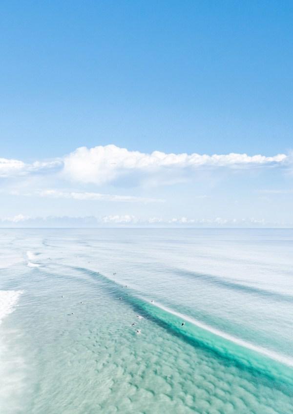 Aqua Ocean Wall Art Print