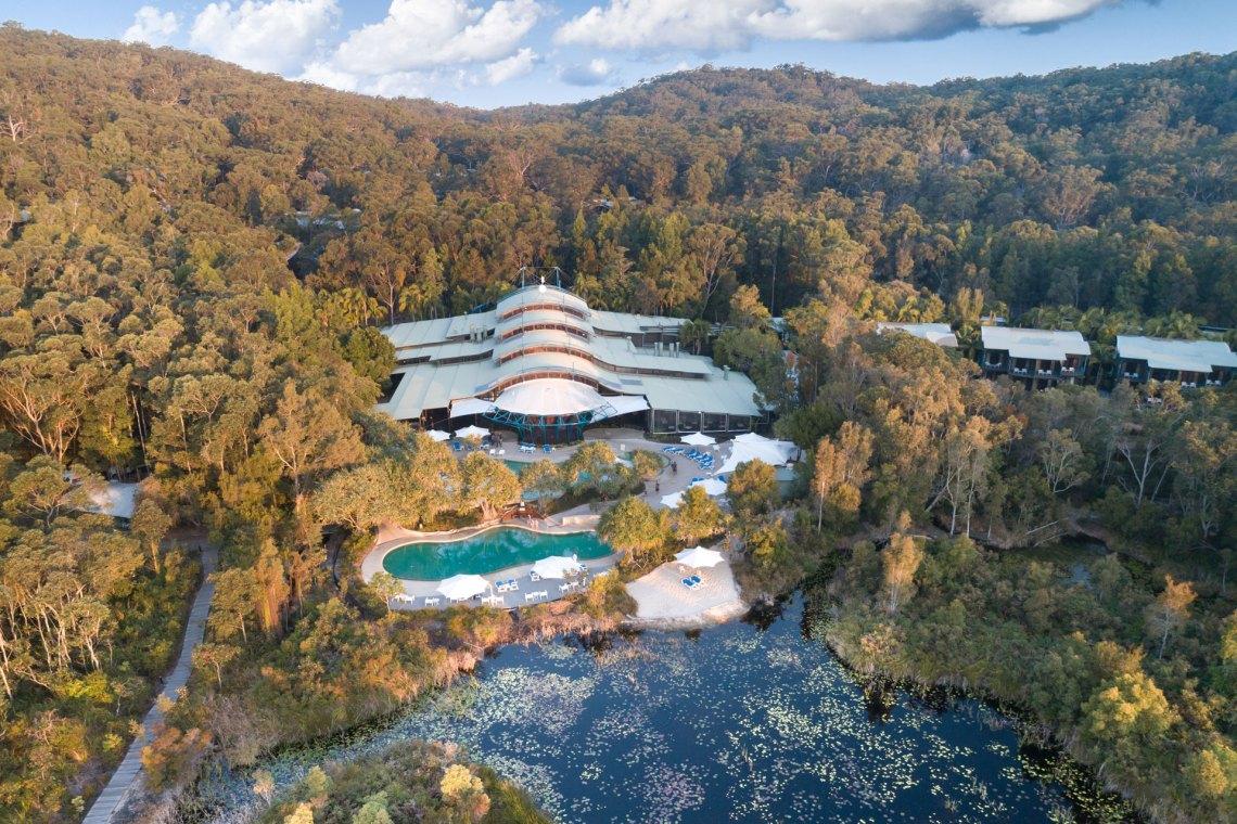 Kingfisher Bay Resort Aerial