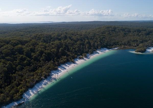 Aerial Of Lake McKenzie, Fraser Island