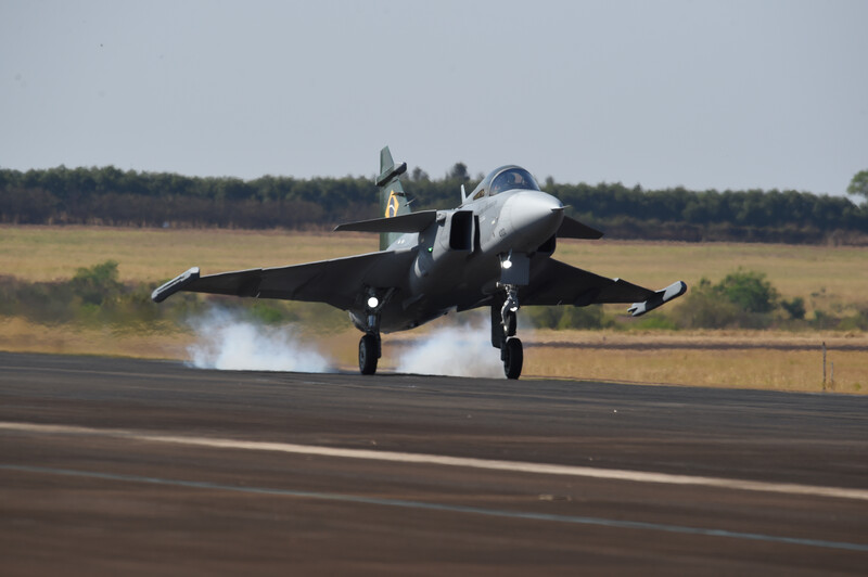 The first Brazilian Gripen has flown in Brazil