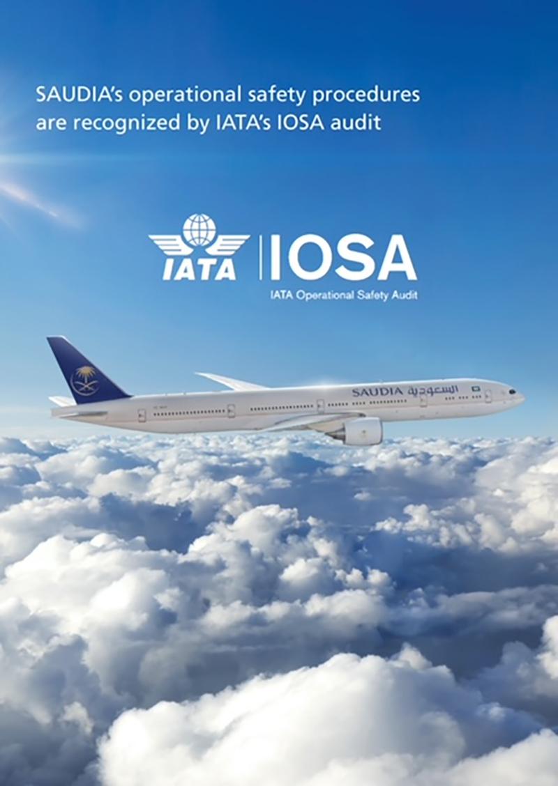 SAUDIA Successfully Renews IATA Operational Safety Audit (IOSA) Certification