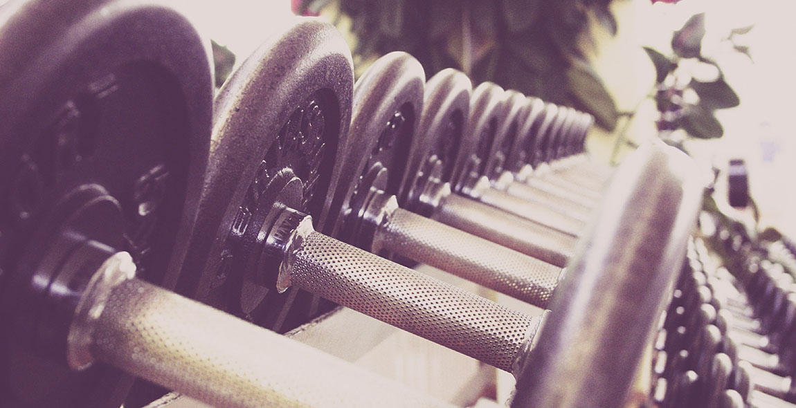 fitness studio kurzhanteln
