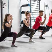 aerosling suspension trainer functional training group lunge exercise
