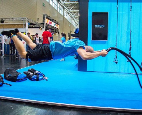 Battle Rope push-up waves