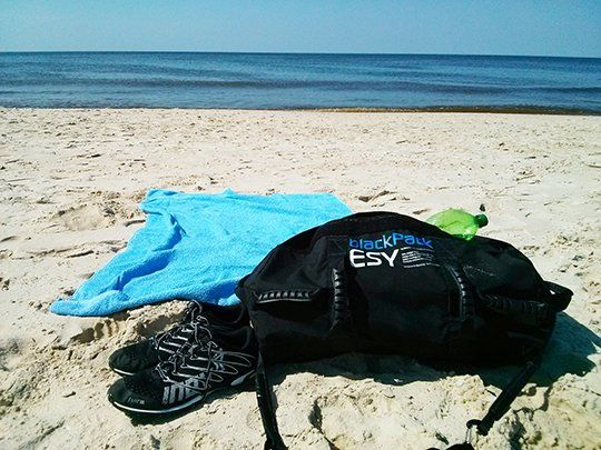 The blackPack is also a great beach bag