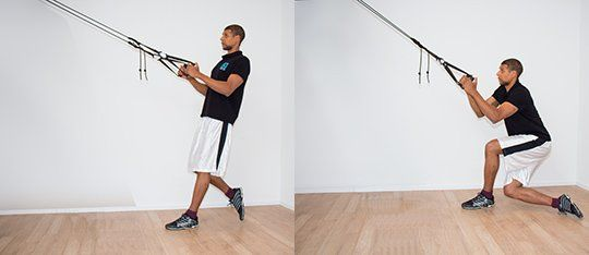 The aeroSling ELITE helps you with rotational lunges