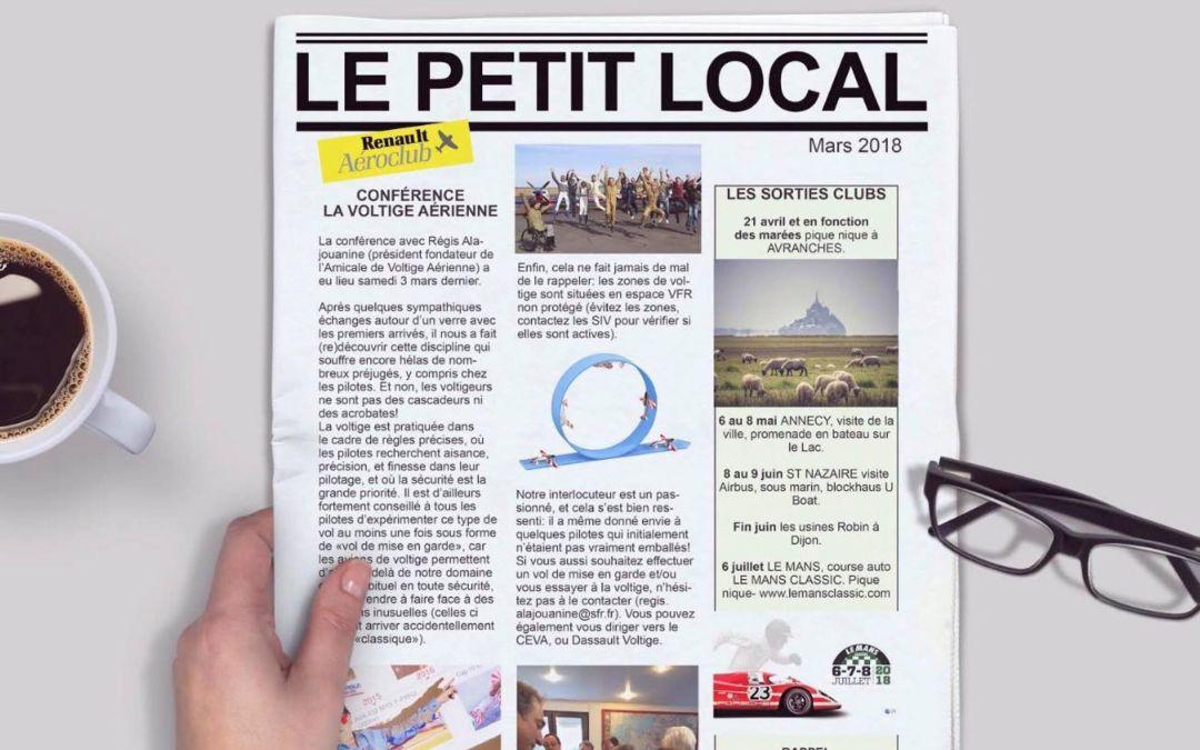 Le Petit Local – Mars 2018