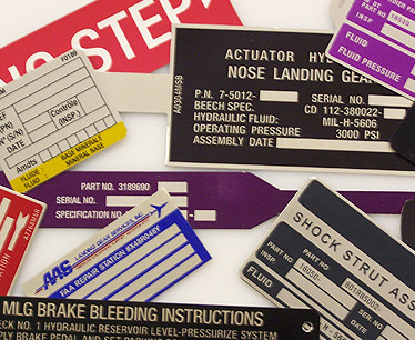 Metal ID Plates for aircrafts
