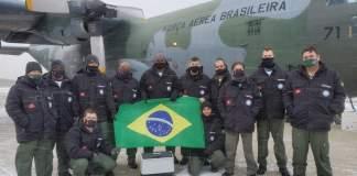 FAB Força Aérea Brasileira Hércules C-130 Antártica Covid-19