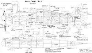Hawker Hurricane 60in Plans  AeroFred  Download Free