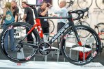 Argon 18 had their new Nitrogen aero road bike with a full World Tour build