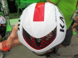 The Kask Infinity with the ventilation port opened