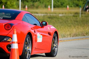 It wouldn't be the Miami 70.3 without a Ferrari...