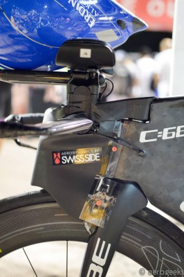We are guessing the tape here helps keep the surface flush for aero purposes.