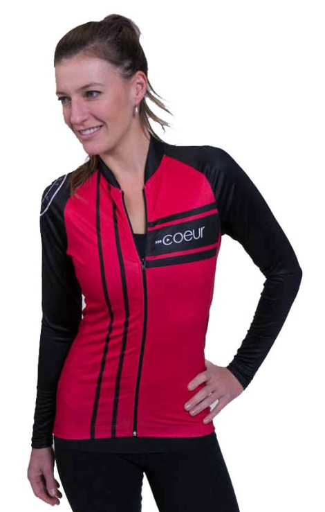 women_s_long_sleeve_cycling_jersey_red_front