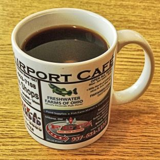 I was impressed by the coffee and the cup, very informative about local places for visitors to check out while visiting this most excellent storybook kind of town, about 30 miles south of Springfield, Ohio.
