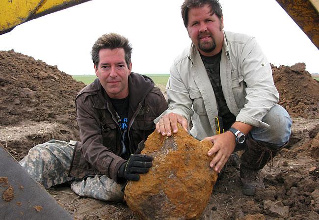 Meteorite Men with tractor