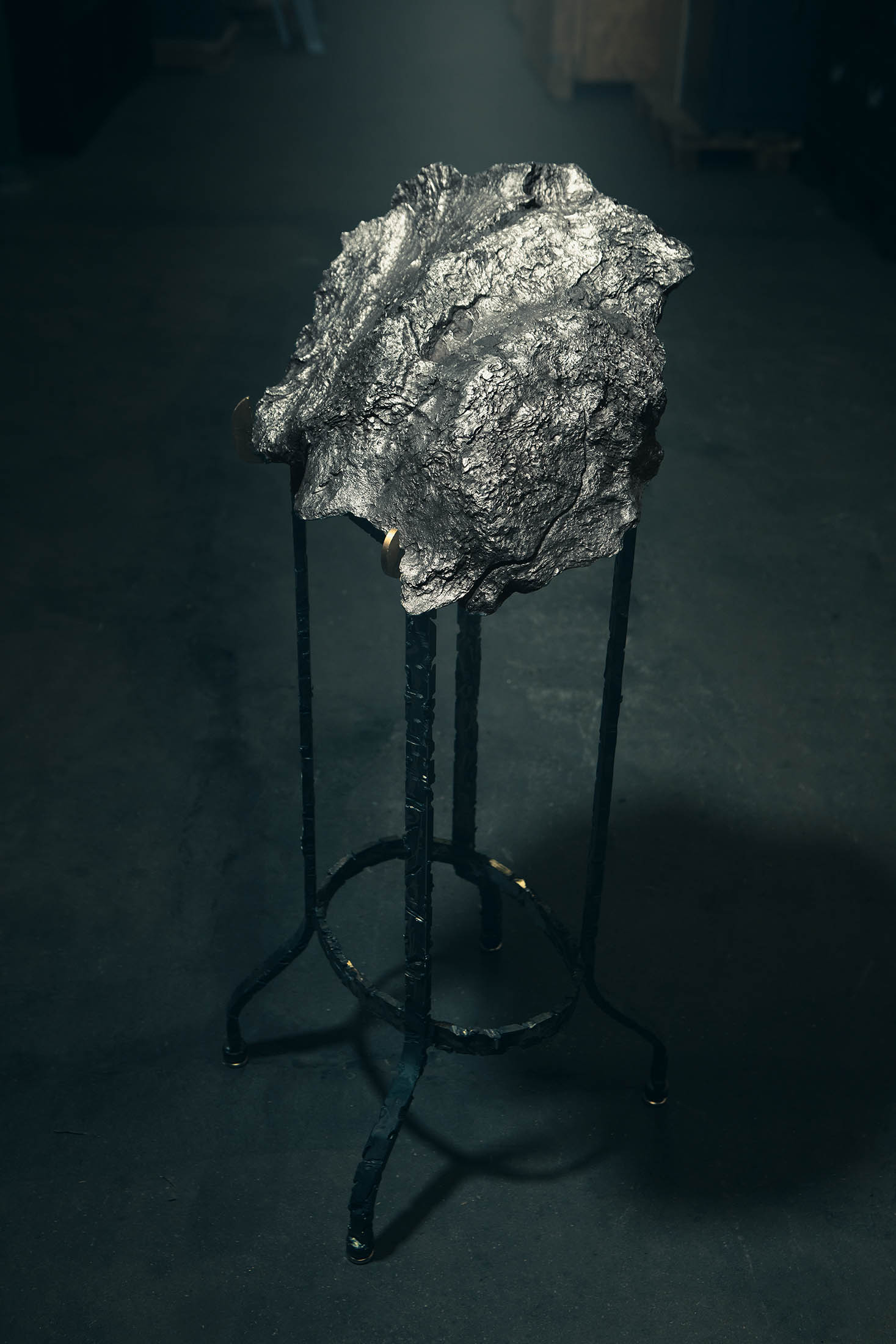 Large Campo del Cielo Iron Meteorite with Metal Stand II