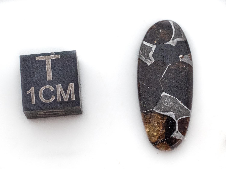 pallasite meteorite cabochon 2 g