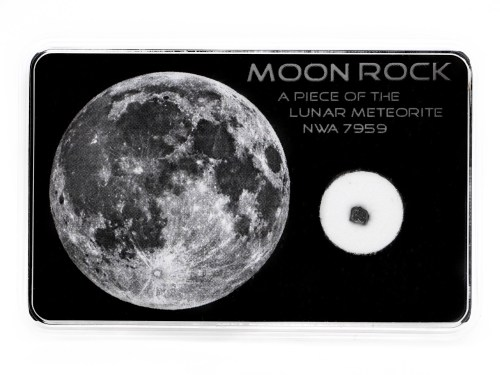 moon rock display